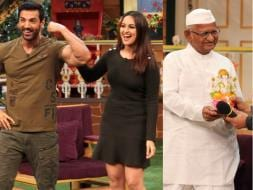 Photo : LOL With Sonakshi, John, and Anna Hazare