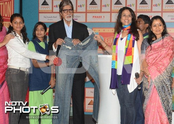 What a jean pool: Big B, Ash donate denim