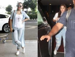Photo : Sonakshi, Anushka's Denim Fixation at the Airport