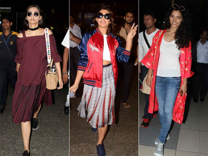 Sonam, Jacqueline, Saiyami Paint The Town In Hues Of Red