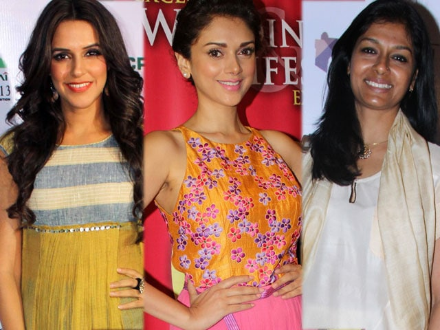 Girls about town: Neha, Aditi, Nandita