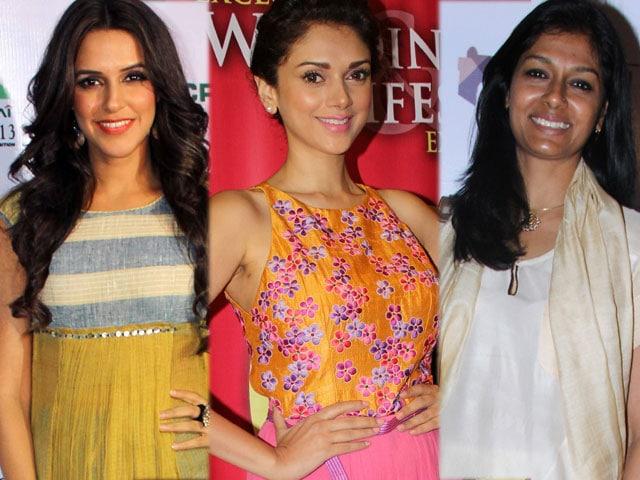Girls about town: Neha, Aditi, Nandita