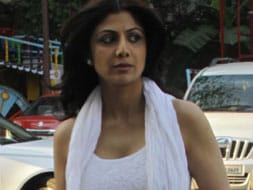 Photo : Shilpa Shetty at Sonu Nigam's mother's chautha