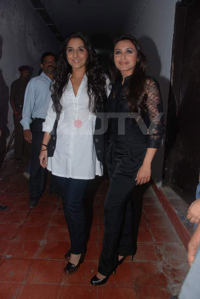 Spotted: Vidya, Rani turn Rockstars