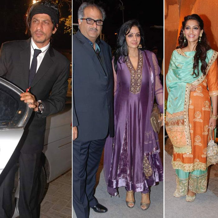 SRK, Sonam, Sridevi @ wedding bash