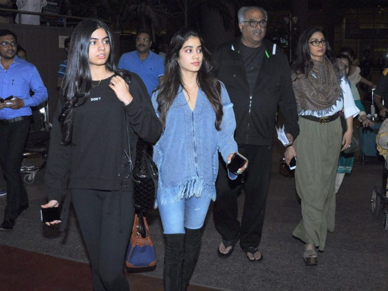Sridevi And The Kapoors Are Back From A Big Fat Punjabi Wedding