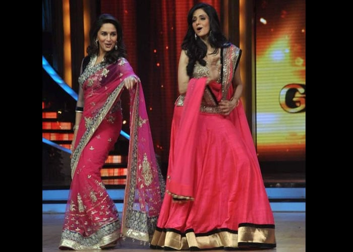 Ex-rivals Sridevi, Madhuri dance together