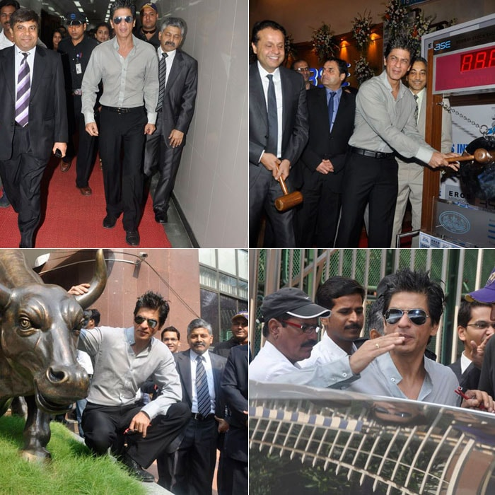 Shah Rukh finds his way to the BSE