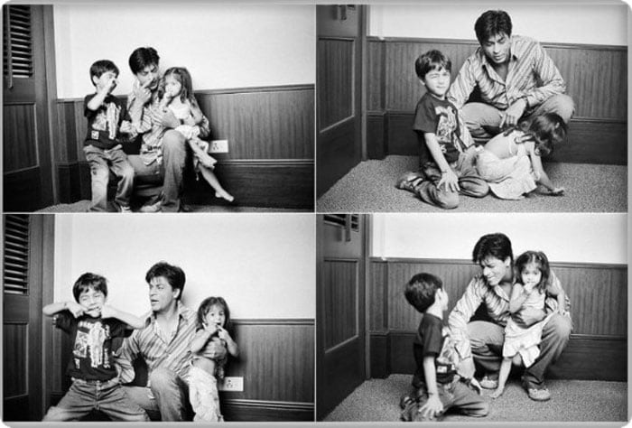 A day with dad: Aryan, Suhana, SRK