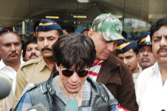 SRK back home amid tight security