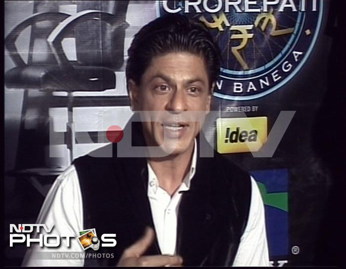 Shah Rukh on sets of KBC