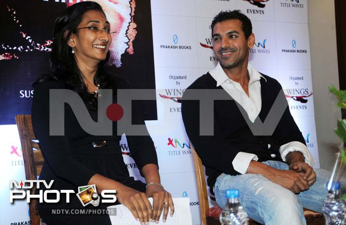 John Abraham at a book launch