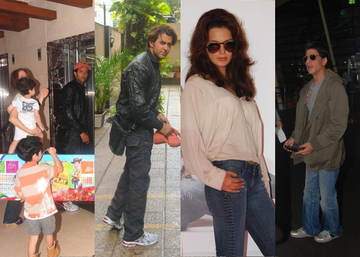 Spotted: Hrithik with wife Suzanne and kids