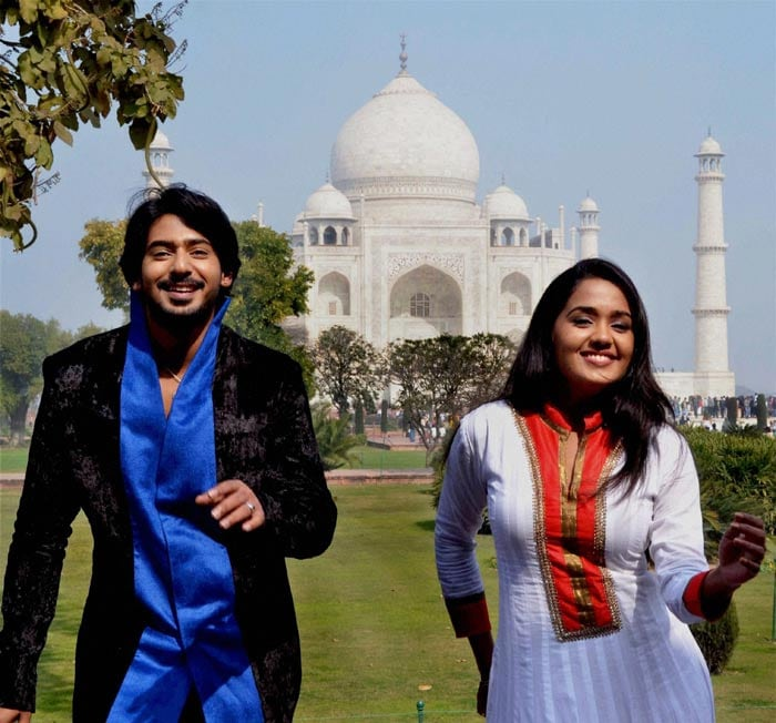 Malayalam actress Ananya shoots at the Taj Mahal