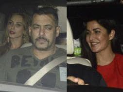 Photo : Salman Khan Watches Sultan With Iulia and Katrina