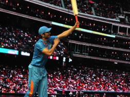 Photo : Sushant Has Aced Dhoni's Signature Shot
