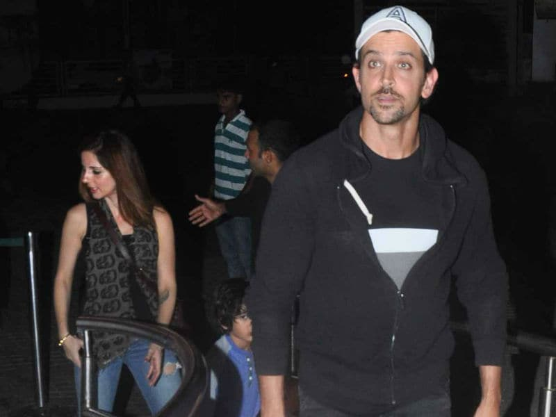 Hrithik Roshan's Movie Date With Sussanne, Sons