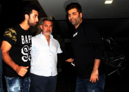 Photo : Aaal is Well With Aamir. But Ranbir, KJo Dropped in to Check