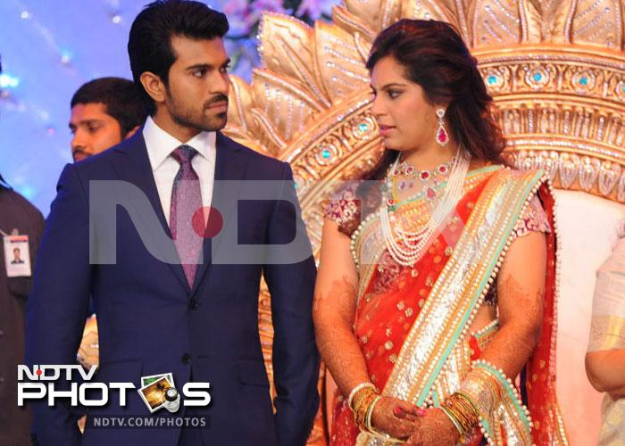 Inside Ram Charan Teja's grand reception
