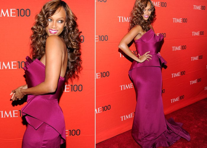 Rihanna, Tyra: Pink ladies on the red carpet