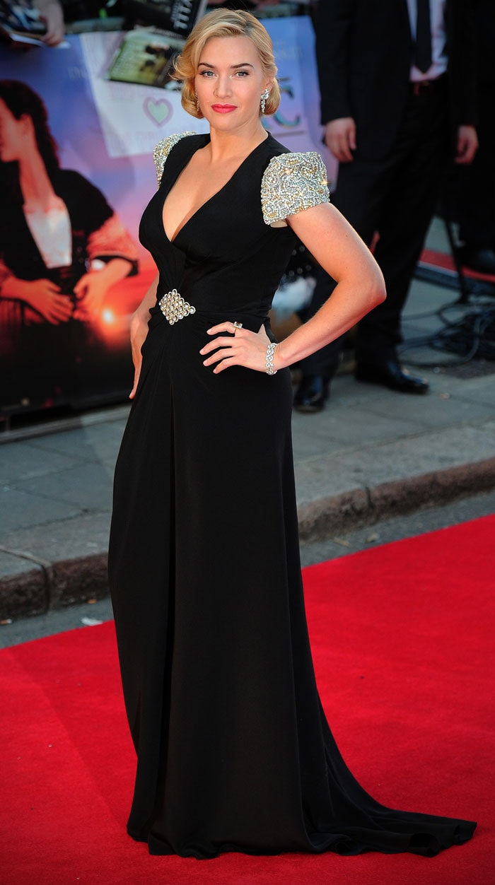 Stunning Kate Winslet at the premiere of Titanic 3D