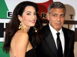 Photo : Out in the Open: George Clooney, Amal Alamuddin