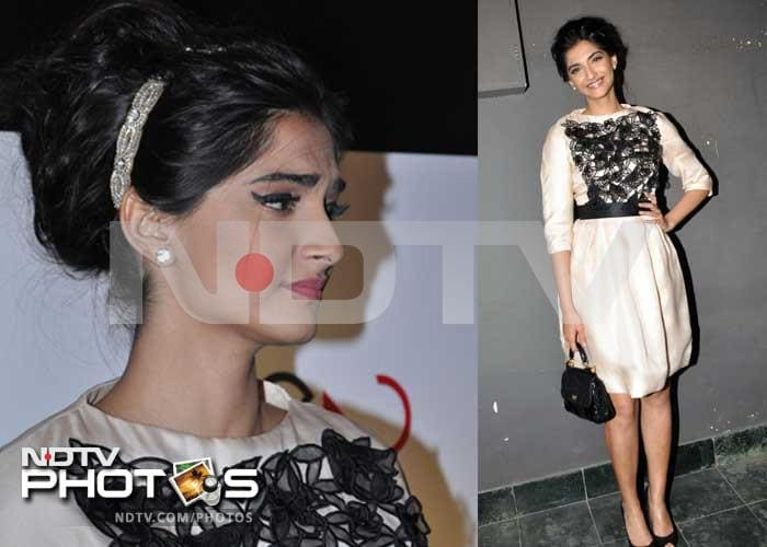 Sonam is black and white and retro all over