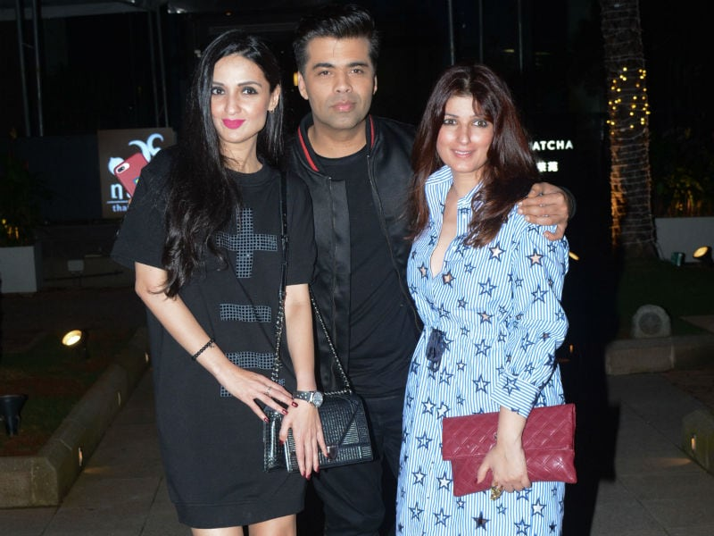 Twinkle Khanna Catches Up With Friends Karan Johar And Anu Dewan