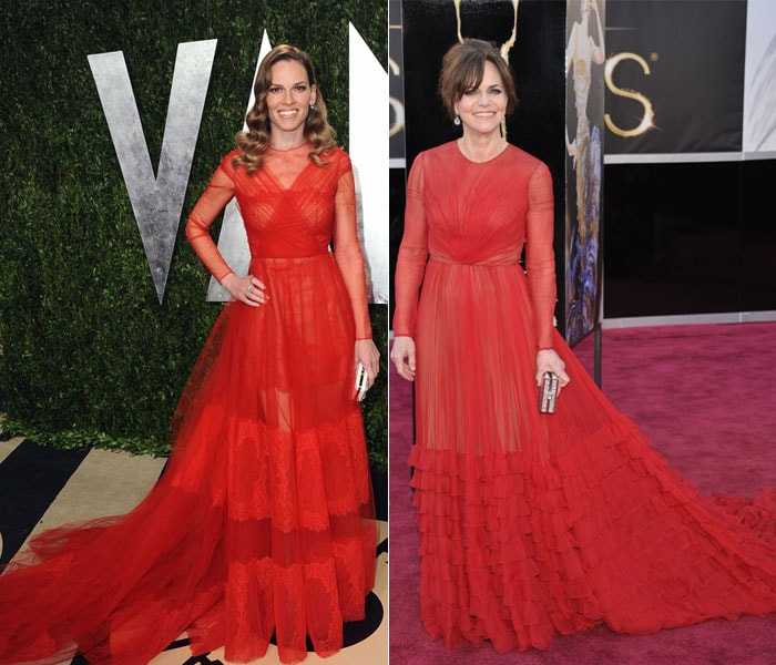 Same-to-same: Sally, Hilary and red Valentino