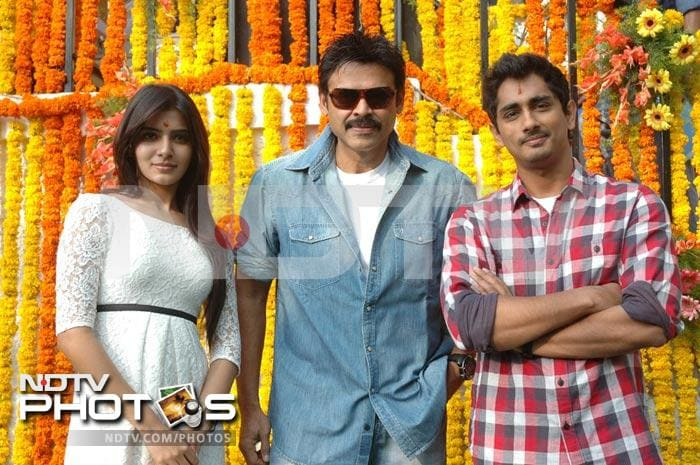 Venkatesh launches Samantha, Siddharth's new movie