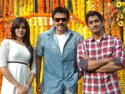 Photo : Venkatesh  launches Siddharth's new film