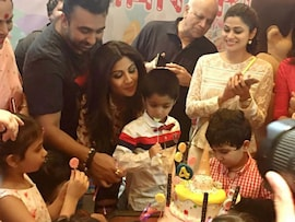 At Shilpa's Son Viaan's Birthday: Aishwarya, Aaradhya and <I>Bachcha Party</i>