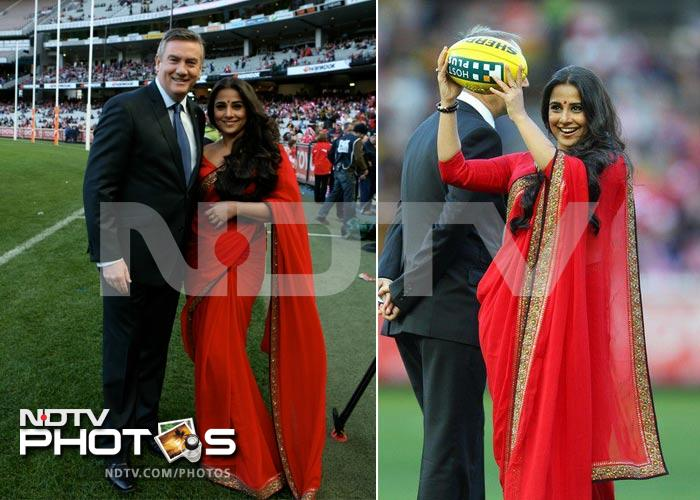 Red hot Vidya plays ball in Australia
