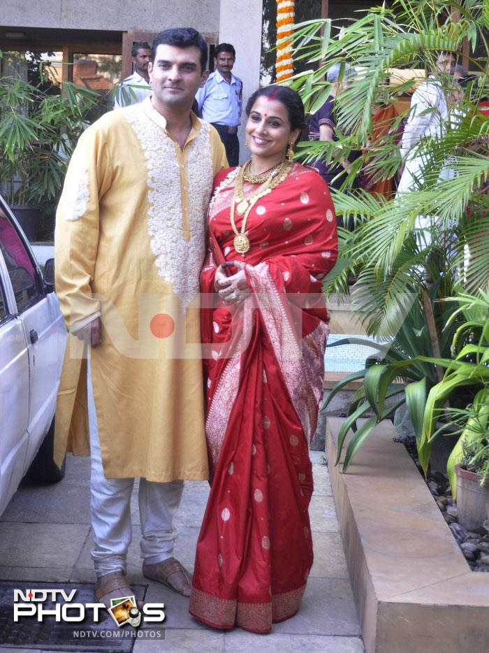 Just married: Vidya and Siddharth at their new home