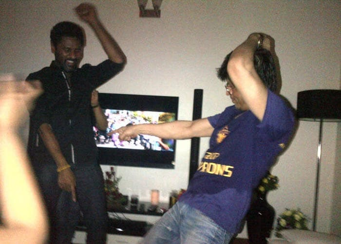 SRK's victory dance with Akshay, Sonakshi, Prabhu Deva
