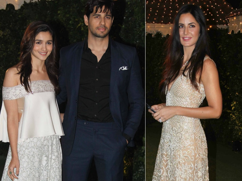 Katrina, Alia Turned Heads In White At A Wedding Reception