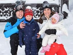 Photo : Their Royal Cuteness: William, Kate's 1st Skiing Holiday With Children