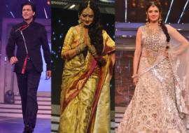 Photo : Yash Chopra's heroines & SRK pay a stylish tribute