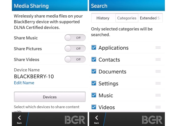 BB10 leaked screenshots