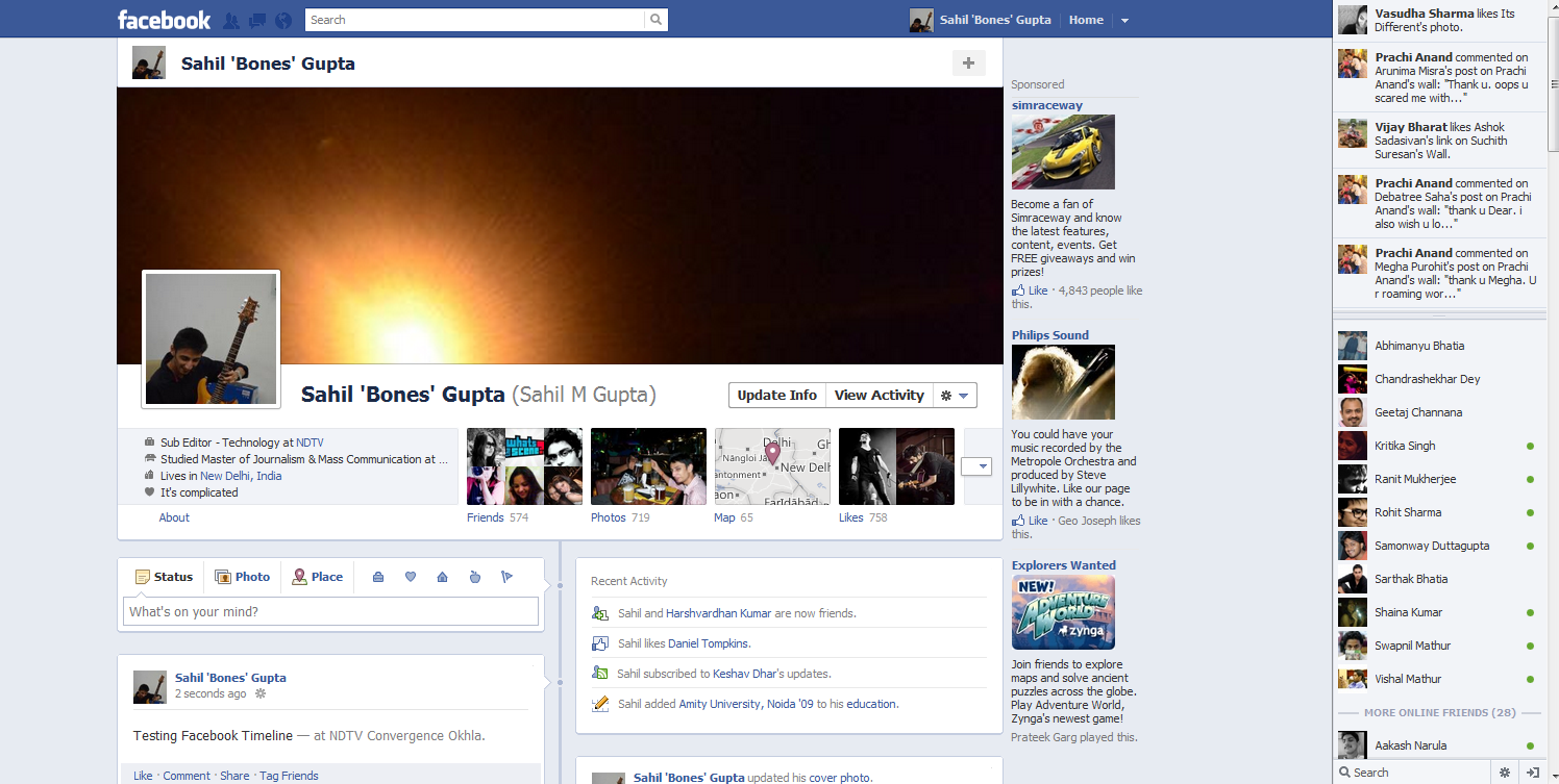 Fb Photos: The New Look Facebook (pictures)