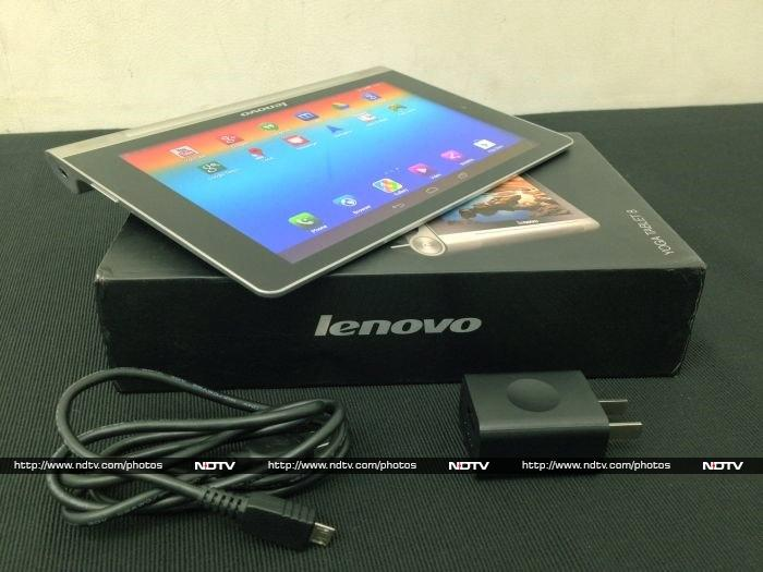The lenovo yoga tablet 8 comes with only a charger and detachable usb