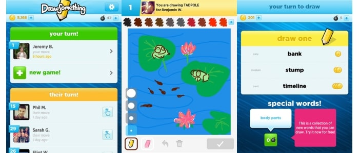 Draw Something - One of the most popular social drawing and