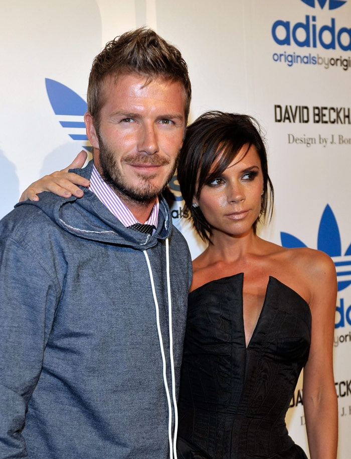 David, Victoria launch Adidas Originals