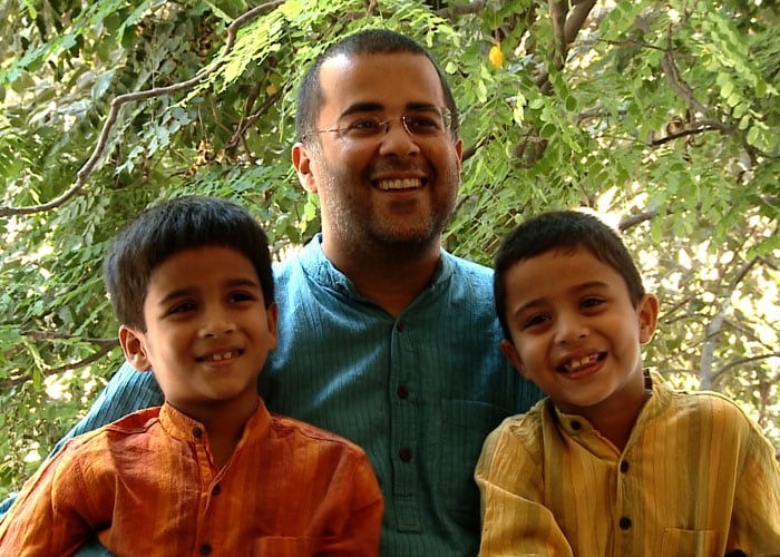 Meet Chetan Bhagat, a doting father