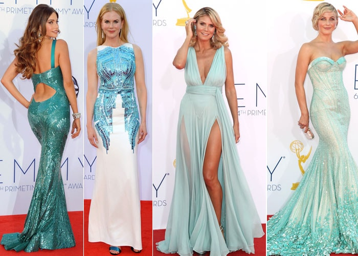 Blue, yellow, red: Fashion trends at the Emmys