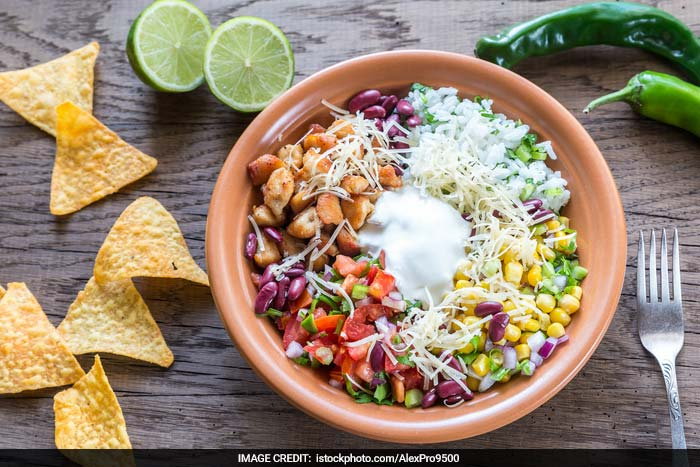 Burrito Bowl: And finally! This packs so much flavour and taste in just a bowl that it's quite crazy. Spicy, juicy, and crunchy -this can be your new party favourite. And filling bowls will definitely win over other small bites!