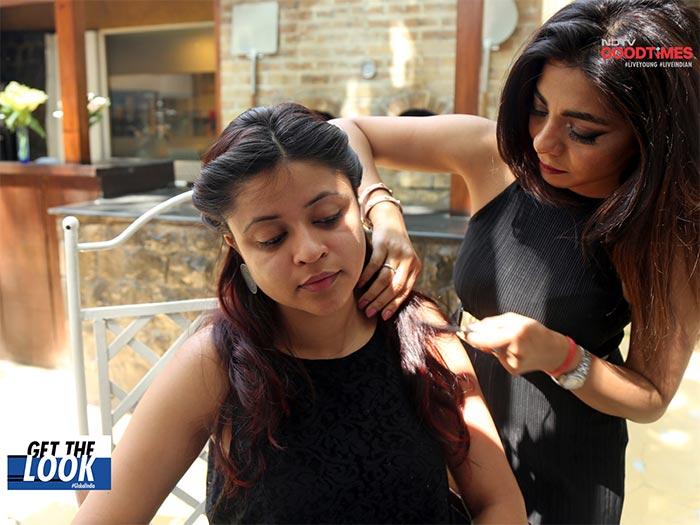 Manjari Malik gives Saniya's hair some additional oomph