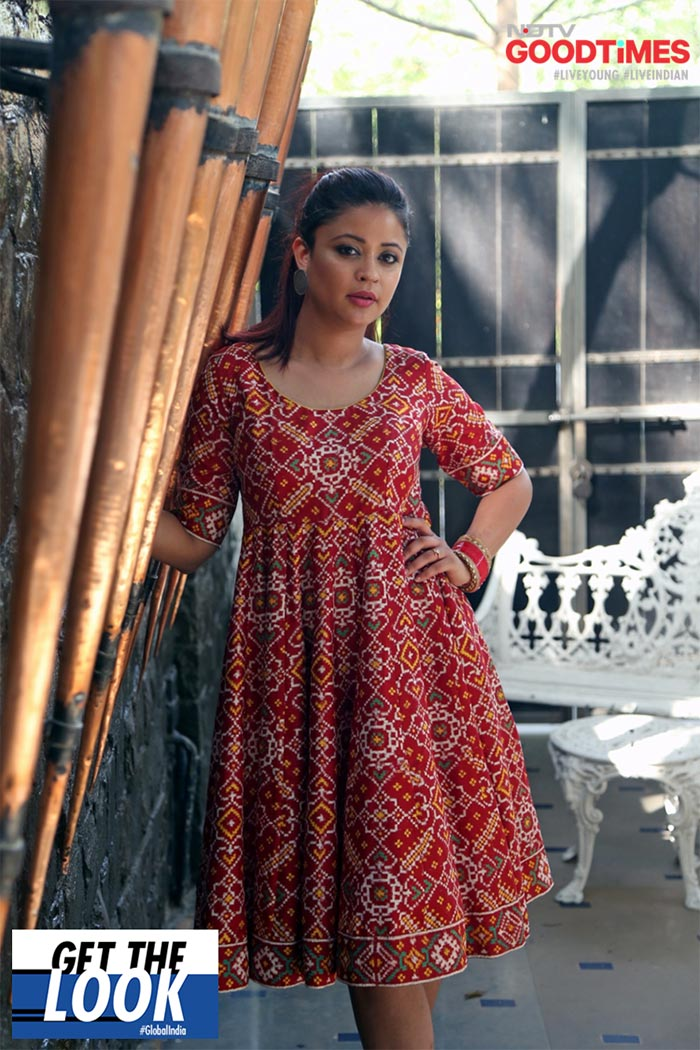 Saniya adorns this gorgeous Gaurang Shah outfit