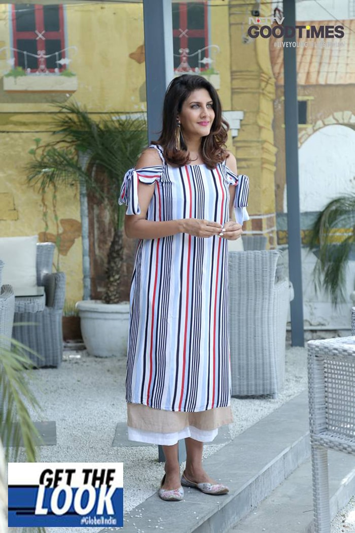 Ambika Anand vouches for the striped cold shoulder trend this season