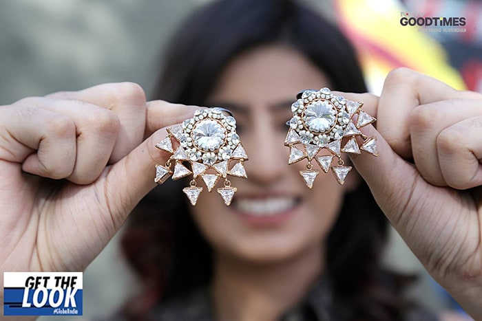 Kajal is all smiles donning these exclusive earrings
